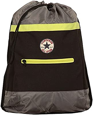 da8944af970a Converse Duffle Sling Backpack - Jet Black Grey Lime Green  Amazon.co.uk   Sports   Outdoors