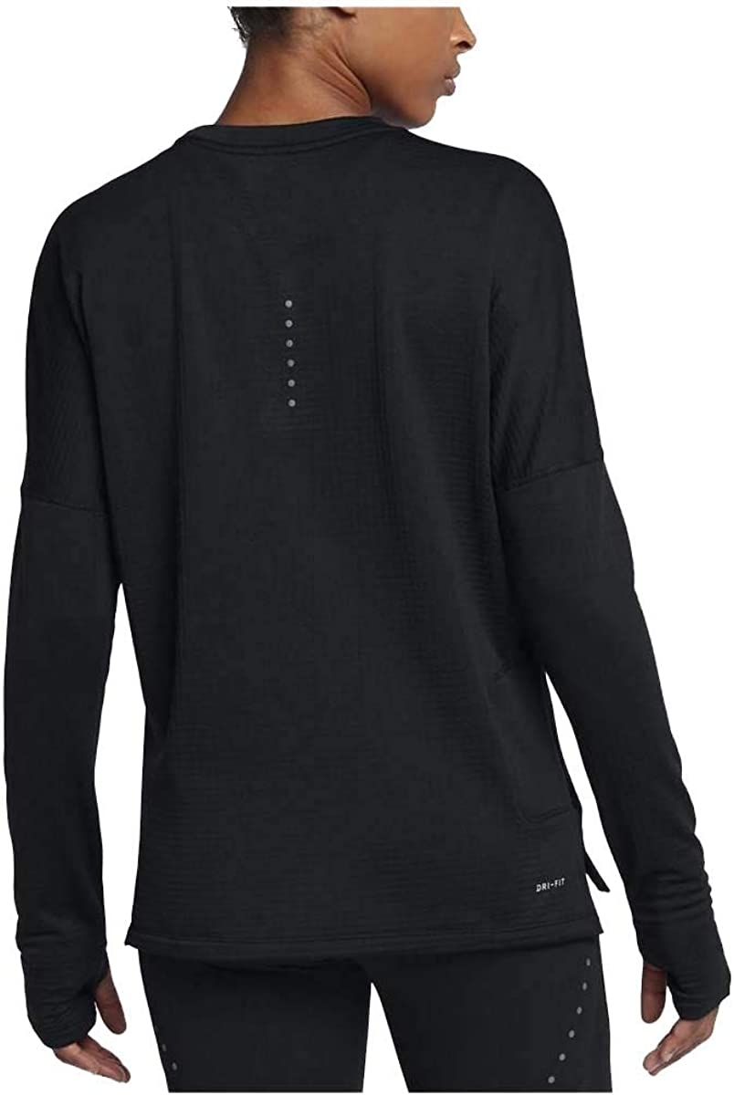 Ocupar para justificar pómulo  Amazon.com: Nike Women's Therma Sphere Element Long Sleeve Running Top  Black Metallic Dark Grey AQ9812-010 (S): Clothing