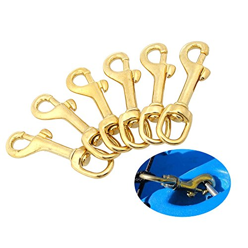 (Explopur Heavy Duty Diving Swiver Hook Solid Brass Swivel Eye Lobster Clasp Bolt Snap Trigger Hook for Straps Bags Underwater Diving Equipment)