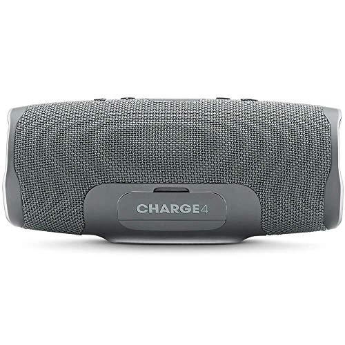 JBL Charge 4 Portable Waterproof Wireless Bluetooth Speaker - Grey (Renewed)