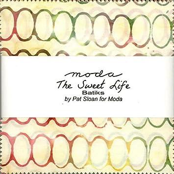 Pat Sloan Sweet Life Batiks Charm Pack 40 5-inch Squares Moda ...