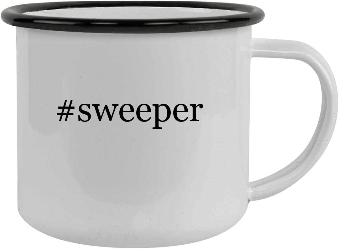 Rubber Docking #sweeper - Sturdy 12oz Hashtag Stainless Steel Camping Mug, Black