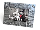 new york frame - New York Picture Frames by Jay Joshua, Silver Metal, Tabletop Picture Frame, New York Souvenirs (4
