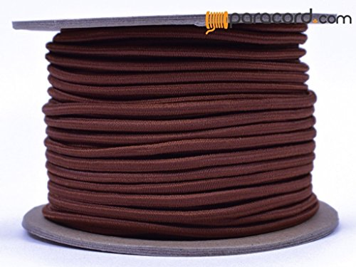 Chocolate 1/8'' Shock Cord - BORED PARACORD Marine Grade Shock / Bungee / Stretch Cord 1/8 inch x 100 feet Several Colors - Made in USA by BoredParacord