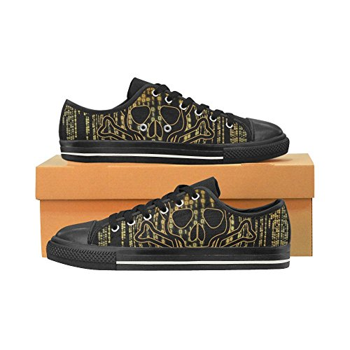 InterestPrint skull Mens Classic Canvas Shoes bNGJDo3