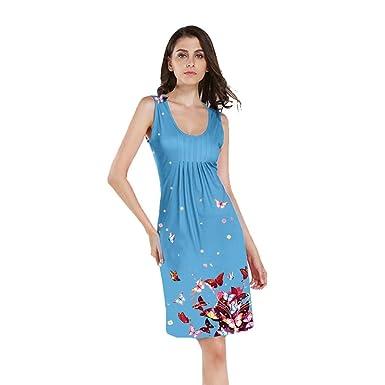 Vectry Kleider Damen Rockabilly Kleid Elegante Kleider Lange Kleidersack  Damen Sommer Festliche Damenkleider Knielang - Fashion e9bfcb585e