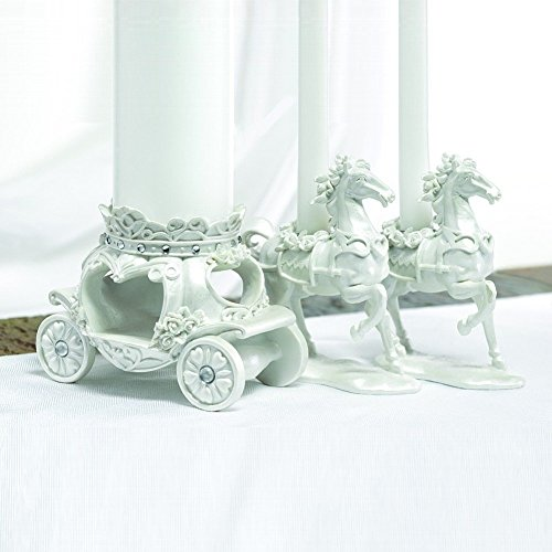Fairytale Horse And Carriage Unity Candle Stand - Fairy Tale Candle