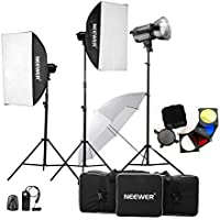 Neewer 900W(300W x 3)Professional Photography Studio Flash Strobe Light Lighting Kit for Portrait Photography,Studio and Video Shoots( MT-300AM)