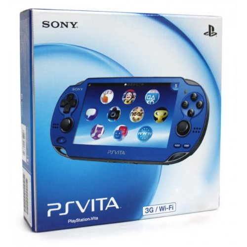 Price comparison product image Sapphire Blue Sony PlayStation PS Vita Portable Handheld Game System Console [REGION FREE 3G / Wi-Fi MODEL]