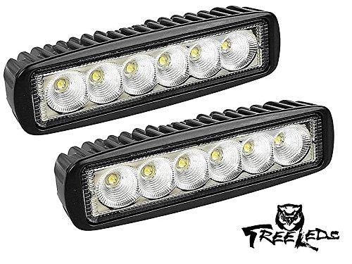 Tree Leds Marine Led Light Spreader T-Top Deck Light Beam White (Black Set of 2)
