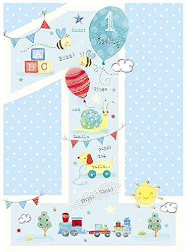 Tarjeta de cumpleaños de 1 año (GBCC-SOGG 1068) - Pastel 1 ...