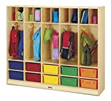 Jonti-Craft 26857JC Large Locker Organizer with 10 Colored Tubs