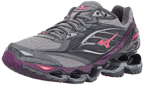 Mizuno Running Women's Wave Prophecy 6 Shoes, Griffen/Paradise Pink/Grape Juice, 0750 B US (Best Mizuno Running Shoes For Flat Feet)