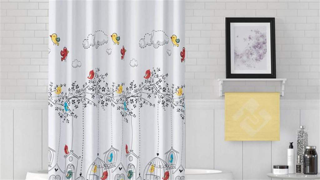 respetuosa con el medio ambiente cortina para ducha y ba/ñera RIXANA Cortina de ducha antimoho incluye 12 anillos de cortina de ducha azul 180 x 200 cm 0,2 mm 3D impermeable