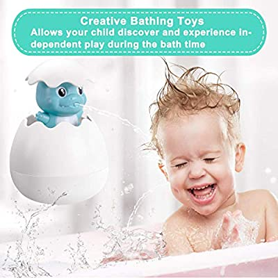 Baby Bath Squirt Toys for Boys Girls, 2 PCS Bathtub Water Spray Toys Squirt Duck Penguin Dinosaur Egg Pool Water Floating Eggs Toys for Toddler Party Christmas Gift (Duck & Pengun): Kitchen & Dining
