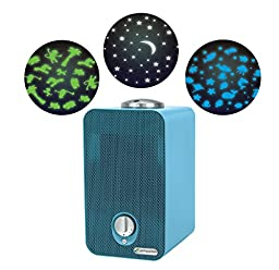 GermGuardian AC4150BLCA Night-Night 4-in-1 Air Cleaning System, HEPA Filter, UV-C Sanitizer, Allergen and Odor Reduction, Projector, Air Purifier, Blue