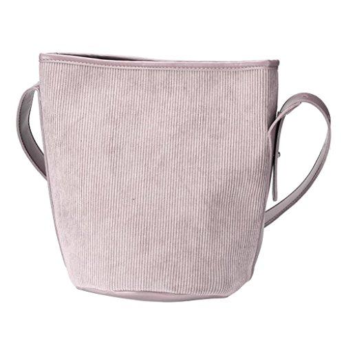 Taschen Holeider Damen Retro Kord Eimer Schultertasche (Größe: ungefähr 30X21X30cm, Gary)