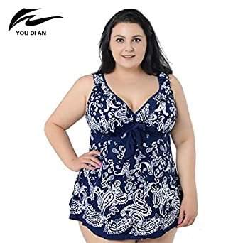 d69df28119 HITSAN INCORPORATION Plus Size Swimwear Female Print Summer Dress Swimsuit  Bathing Suit New 8XL Beach wear Bikinis Set Color SL Size 7XL  Amazon.in   ...