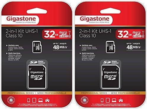 Tarjeta microSD Gigastone HC 32 GB C10 U1 con adaptador SD 2-Pack ...