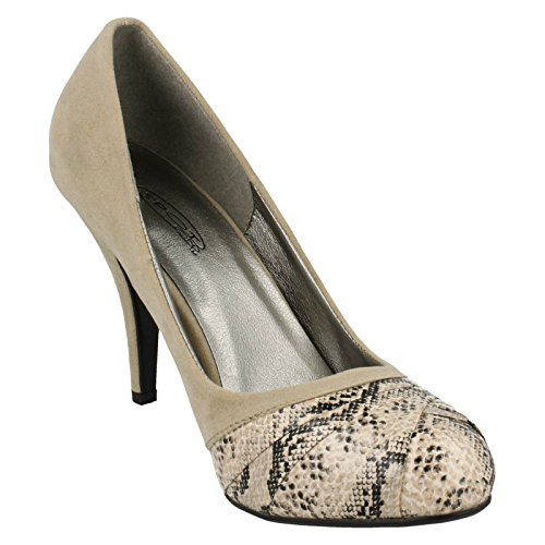 Overlay Court Heeled Spot Natural On avorio Vamp qEtxCwS8x