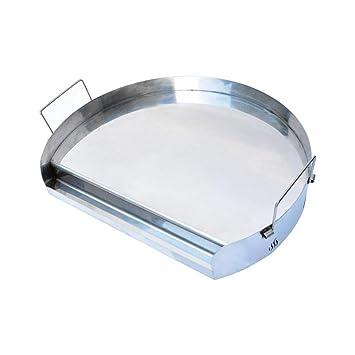 Onlyfire Universal Plancha de Acero Inoxidable para Barbacoa Parrilla de carbón caldeada, Parrillas de cerámica y la mayoría de Parrilla de Gas, ...