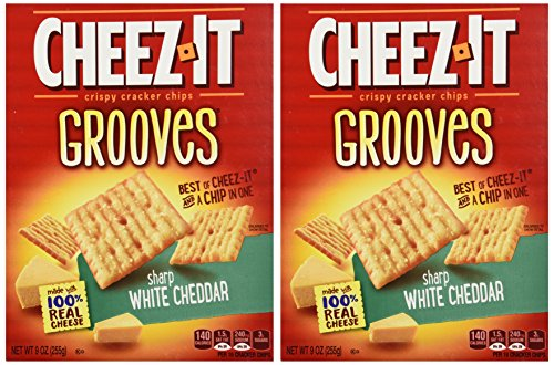 Sharp White Cheddar - Cheez-It Grooves Sharp White Cheddar 9oz (Pack of 2)