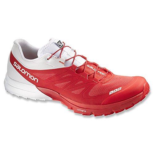 Salomon Men's S-Lab Sense 4 Ultra Softground Trail Running Shoes Racing Red / White / Racing Red 5