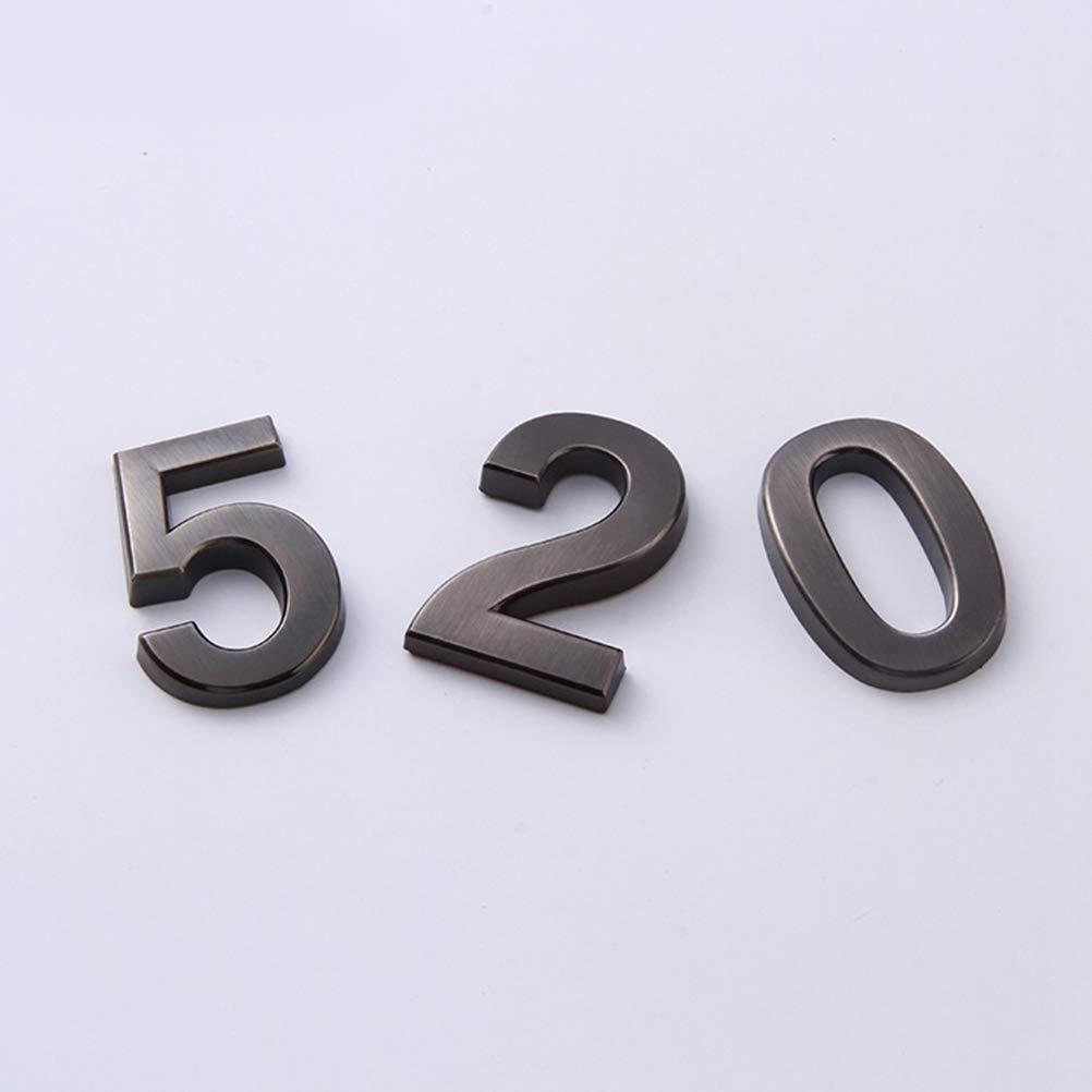 VORCOOL 10/Unidades estereosc/ópicas Metal N/úmero Moderno Placa n/úmero de casa Hotel Puerta d/ígitos Etiqueta de direcciones Placa de Caracteres 0//–/9, una para Cualquier n/úmero