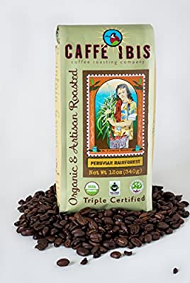 Caffe Ibis - Peruvian Rainforest - Whole USDA Organic Coffee Beans (12oz)
