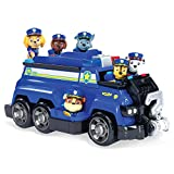 Paw Patrol, Chase's Total Team Rescue Police Cruiser Vehicle with 6 Pups, For Kids Aged 3 & Up