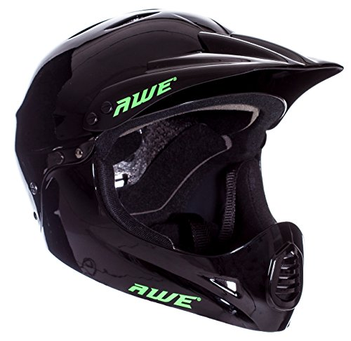 AWE Free 5 Year Crash Replacement Full Face Helmet Black Medium