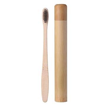 Cepillo de dientes Prosperveil de bambú, cerdas de carbón suave de ...