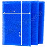 MicroPower Guard Replacement Filter Pads 17x23 Refills (3 Pack) BLUE