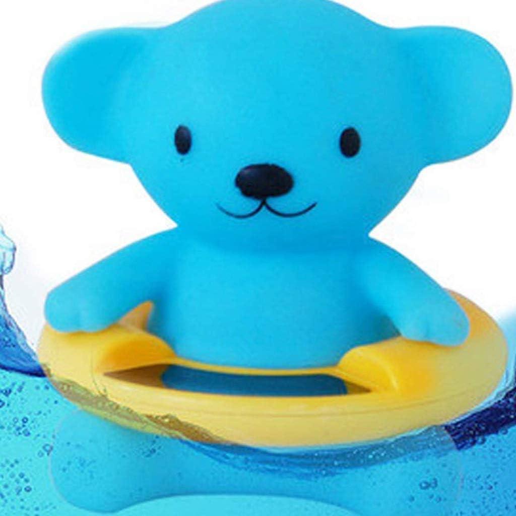 Ours bleu 8.5cm Ogquaton Thermom/ètre de bain pour b/éb/é de qualit/é sup/érieure pour b/éb/é et thermom/ètre de bain flottant jouet pour baignoire et piscine 9.5 1pc