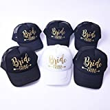 6 Pack Bride Tribe Arrow Mesh Hats Bachelorette Party Snapback Bridal Wedding Truck Caps Adjustable