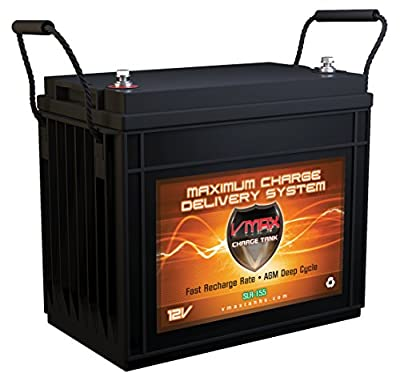 Best Cheap Deal for Vmaxtanks VMAX SLR155 AGM 12v 155ah Deep Cycle SLA Rechargeable Battery for Solar and Golf, Pv Solar Panels, Smart chargers, Wind Turbine and Inverters. from VMAXTANKS - Free 2 Day Shipping Available