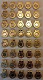 40 Gold Magnetic Hat Clips for Metal Golf Ball Markers