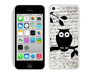 Owl On Vintage Paper Apple Iphone 5C Case White Cover