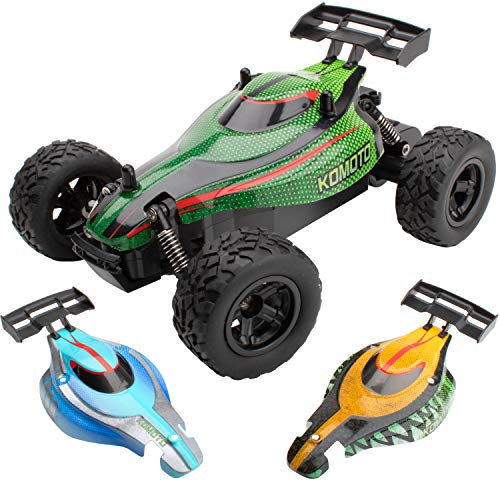 Remote Control Cars for Adults or Kids - Komoto Remote Controlled RC Buggy, Radio Control Electric Off Road Stunt Race Car Toys for Boys or Girls