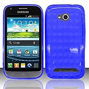 For Samsung Galaxy Victory 4G LTE L300 TPU Cover Case w/ Pattern - Blue