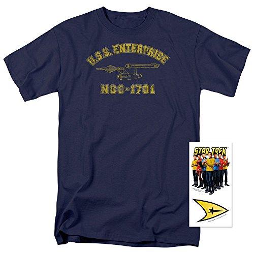 Popfunk Star Trek USS Enterprise T Shirt (Medium) ()