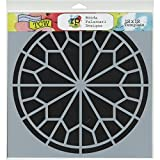 Crafters Workshop Template, 12 by 12-Inch, Rose Window