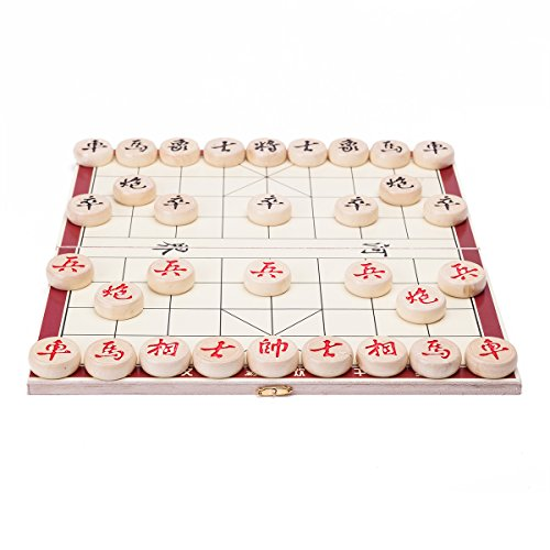 Portable Traditional Xiang Qi Wooden Folding Chinese Chess