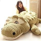 Galaxytree Giant Huge Baby Adult Soft Stuffed Animal Plush Toy Cotton Doll Indoor Furnishing Gift (Green Crocodile 160cm)