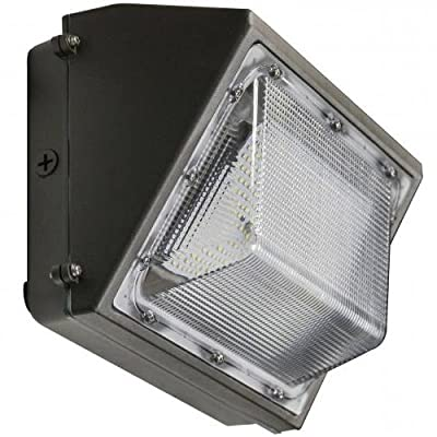 LED Wall Pack DLC Premium 5000K Outdoor Lighting Wall Mount - Ultra Bright Weatherproof, Waterproof LED Light Fixture for Porch, Walkway or Commercial Store