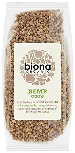 Hemp Plant - Biona Organic Whole Hemp Seeds 250 g (Pack of 4)