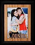 5x7 COUSINS ~ Portrait BLACK Picture Frame ~ Holds a 4x6 or cropped