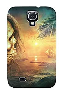New Style Podiumjiwrp Hard Case Cover For Galaxy S4- Skeleton And A Macaw