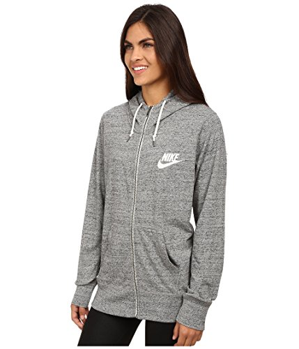(Nike Gym Vintage Womens Full-zip Hoodie (Medium, Carbon Heather))