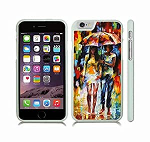 iStar Cases? iPhone 6 Case with In the Rain, Watercolor, Two Girls Under an Umbrella in the Rain , Snap-on Cover, Hard Carrying Case (White)